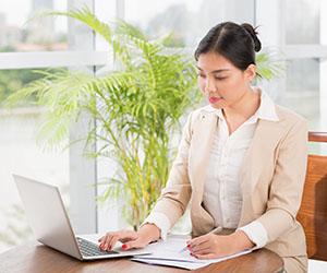 Accountant On Computer